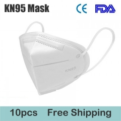 10 pcs KN95 Mask FFP2 Protective Mask Dustproof Anti-fog And Breathable Face Masks 95% Filtration Mouth Masks 4-Layer Mouth Muffle Cover with Elastic Earloop